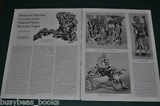 1977 magazine article, Chinese WOOD & BAMBOO CARVINGS, Taipei Museum info photos