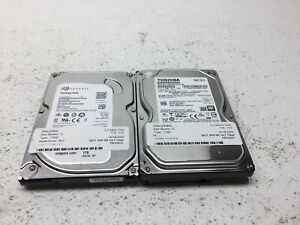 """Lot of 2 1 TB 1000 GB 3.5"""" Mixed Branded Desktop Hard Drives HDD's -TESTED-"""