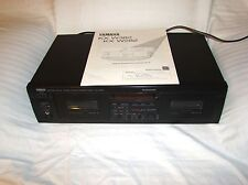 YAMAHA KX-W382 Dual Stereo Cassette Tape Deck Player Recorder