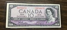 CANADA BANK NOTE 10$ DOLLARS BILL 1954- NICE! FREE SHIPPING