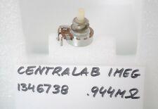 Vintage CENTRALAB 1 MEG Ohms Pot fits Fender & Gibson 1967 Electric Guitar