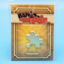 """Banjo-Kazooie Golden Jiggy Pin 1.1"""" *Official* Rare Gold 3D Jigsaw Puzzle Piece"""