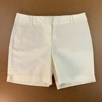 LOFT Womens Size 12 Off White Riviera Shorts with 8 Inch Inseam NWT