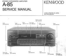KENWOOD A-85, CD-203, 204, DPF-R3010, R4010, E Schematic Diagram Service Manual
