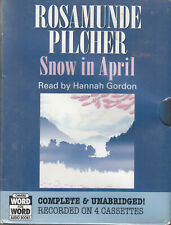 Rosamunde Pilcher Snow In April 4 Cassette Audio Book Unabridged FASTPOST