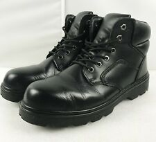 Himalayan Waterproof Safety Toe Cap COMBAT STYLE Black Work Boots size UK9  EU43