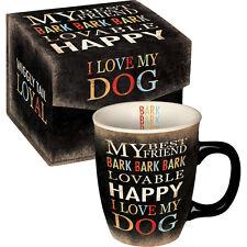 Carson Homes Coffee Mug Cup 14 oz Ceramic I Love My Dog in Decorated Box