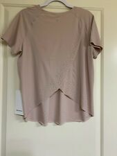 NWT Lululemon Womens Quick Pace SS Shirt Size 10 rare from over seas limited