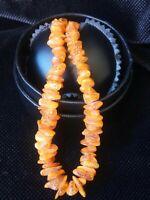 44 cm natural BERNSTEIN Amber Kette Baltic Naturbernstein 老琥珀