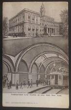 Underground Loop Station at City Hall New York Illustrated Post Card Co 1913