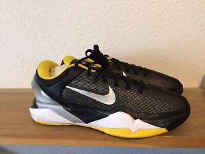 Nike Zoom KOBE VII 7 SUPREME DEL SOL Sz 5.5Y BLACK SILVER TOUR YELLOW 488244-001
