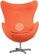 Egg Chair Replica Arne Jacobsen - Orange Premium Wool