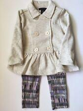 Calvin Klein Toddler Girls Legging and Top Set  2T  Ivory/Multi