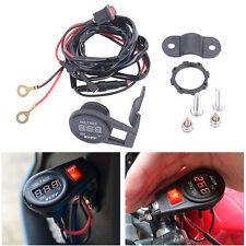 Car Motorcycle Waterproof DC LED Digital Display Voltmeter Socket 12V Switch