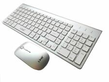 Combo teclado Raton Wireless Inalambrico 2.4g interfaz USB con letra Ñ PC Mac