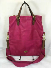 Fossil Explorer Fold Over Tote in Rasberry/Brown  Excellent Condition!!