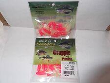 "Gary Yamamoto Custom Baits Crappie And Panfish 1.75"" tubes Pink/Pearl"