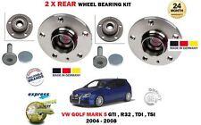FOR VOLKSWAGEN VW GOLF MK5 TSI TDI GTI R32 2004-2008 2 X REAR WHEEL BEARING KITS