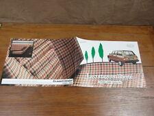AUTOMOBILE BROCHURE CATALOG SALES CATALOGUE : CITROEN GS GSA COTTAGE 1984 rare