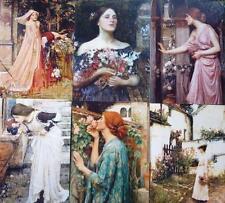 "Pre-Raphaelite 6 art prints J. W. Waterhouse 7"" x 5"" Roses Flowers Scent artist"