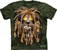 Big Face Smokin' Jahman Lion Portrait T-Shirt by The Mountain. Sizes S-5XL NEW
