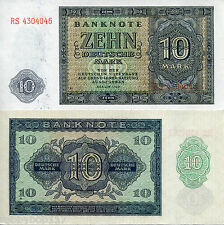 GERMANY EAST (DDR) 10 Marks Banknote World Currency p12b 1948 Europe Money BILL
