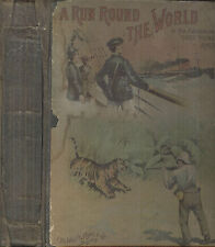 A Run Round the World or The Adventures of Three Young Americans.Copyright 1891