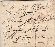 Lettre Département Conquis 105 Coni DeB Turin Cover Italy Italia