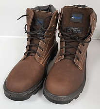 Secor Brown Work Safety Rigger Boots Rubber Sole Steel Toe Cap Sherpa Lined UK11