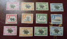 Mint Hinged Pakistan Bahawalpur Set Collection With Overstamps 12 Mint Stamps MH