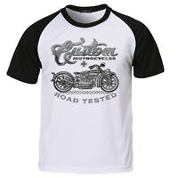 Mens Biker T shirt Bobber Chopper American Motorbike Custom Motorcycle Bike 208