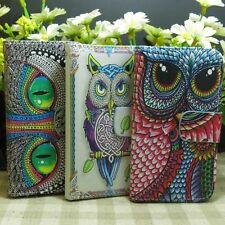 1x Cool Eye OWL Magnetic Flip Stand Wallet  case cover for LG Phone