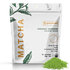 Greenboxed Matcha Green Tea Powder - Japanese, Organic **CULINARY GRADE 1oz.**