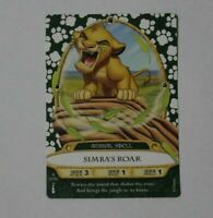 Disney Sorcerers of the Magic Kingdom card #17 Simba's Roar
