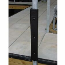 K & R H-10B Flat Cushion Horizontal-Vertical Dock Bumper Black