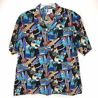RJC Ltd Hawaiian Aloha Shirt Surfboards Size XL Made in Hawaii USA