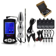 Electro Shock Kit E-Stim Big Stainless Steel Plug Men Women Therapy Device S897