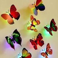 10er-Set LED Lichter Schmetterlinge Wandtattoo Möbelaufkleber Fensterbilder