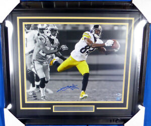 ANTONIO BROWN AUTOGRAPHED SIGNED FRAMED 16X20 PHOTO STEELERS BECKETT 130267