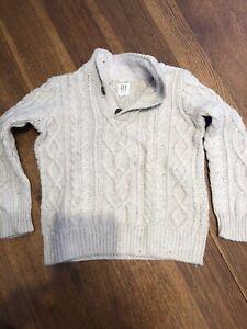Gap Kids Boy'scable-knit Mockneck Sweater Small 6/7