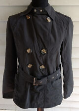 Jones New York Womens Belted/Button Double-Breasted Jacket/Peacoat-Black-Small