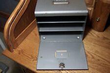 New listing Vintage Brumberger Metal Industrial File Cabinet Photo Paper Safe Drop front st