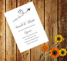 Personalised Handmade Wedding Invitations Invites Day Evening Abroad x 50 AWI12