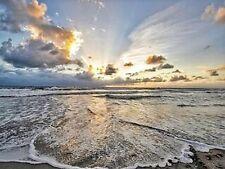 OCEAN SUNSET - SCENIC BEACH - FINE ART PRINT POSTER 13x19 - BF2225