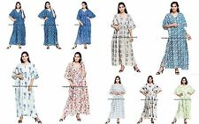 WHOLESALE BULK LOT OF 5 HAND BLOCK PRINT Kaftan Top/Beach Cover Maxi Cotton Gown