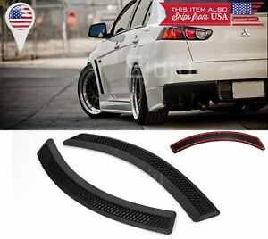 2 Pcs Tape on Black Evo 10 side Grill Grille Fender Flare Vent Cover For BMW