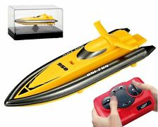 MINI PALM RADIO REMOTE CONTROL SPEED BOAT 2.4GHZ RECHARGEABLE RC BOAT BATHTUB