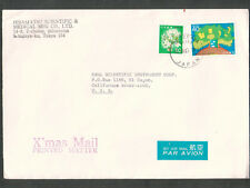 Japan 1987 cover Hisamatsu Scientific & Medical Mfg Co Setagaya-ku Tokyo to USA