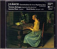 Bach clavierbüchlein pour Anna Magdalena Bach Lorraine Hunt Nicholas McGegan CD