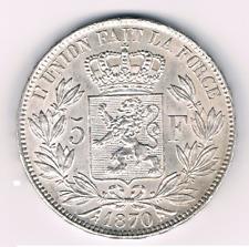 5  Francs  1870    Leopold II   Belgium/Belgie/Belgique     Morrin 157  UNC